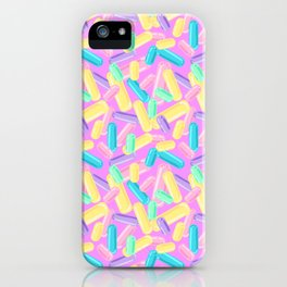 Pastel Jimmy Candy Pattern on Pink iPhone Case
