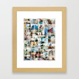 Miami, Florida Montage Framed Art Print