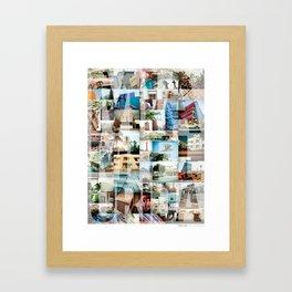 Miami, Florida Montage Framed Art Print