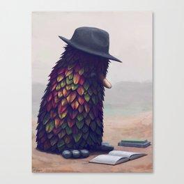 Bird Learning Canvas Print