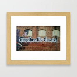 Together We Create Street Art Framed Art Print