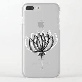 Geometric Flower 2 Clear iPhone Case