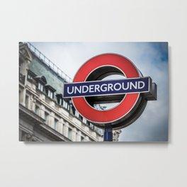 Going Underground Metal Print