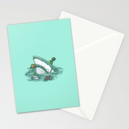 Happy Birthday Shark Stationery Cards