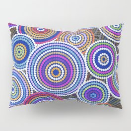 Colorfull Aboriginal Dot Art Pattern Pillow Sham
