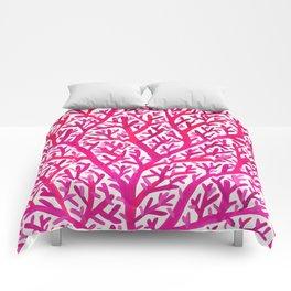 Fan Coral – Pink Ombré Comforters