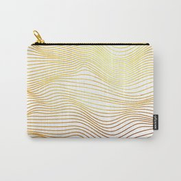 Golden Lines Carry-All Pouch