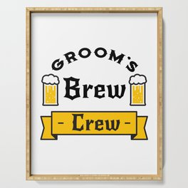 Groom Funny Groom's Brew Crew Serving Tray