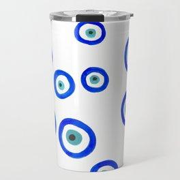 Evil Eyes Watercolor Travel Mug