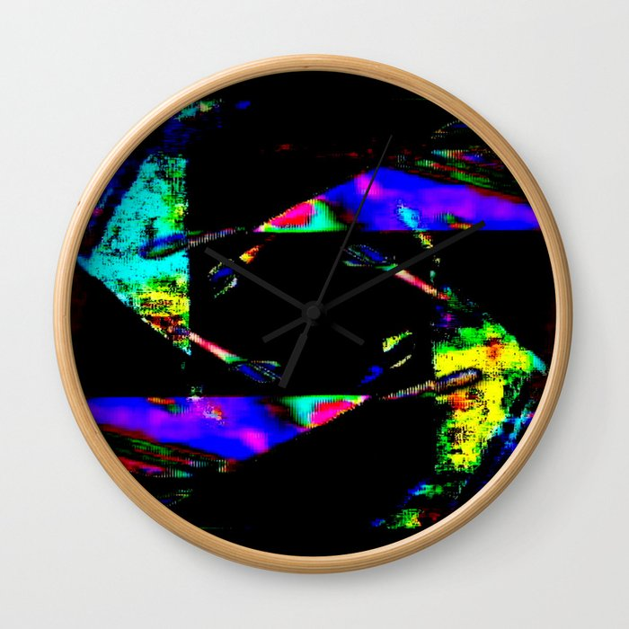 feedback pinwheel Wall Clock