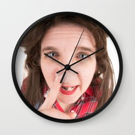 Fisheye Redneck Nose Picker Wall Clock