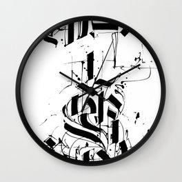 CALLIGRAPHY N°6 ZV Wall Clock