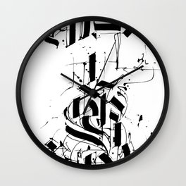 CALLIGRAPHY N°6 ZV Wall Clock