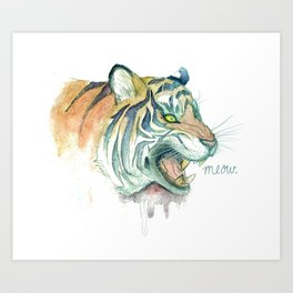 Tight Like a Tiger Art Print