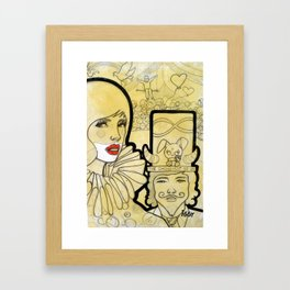 the circus show Framed Art Print