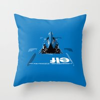 Jackie Stewart, Tyrrell 005, 1973 Throw Pillow
