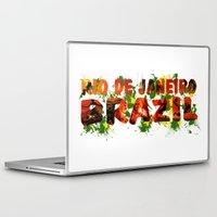 rio de janeiro Laptop & iPad Skins featuring Rio de Janeiro by J. Ekstrom