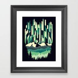 Sunrise in Vertical - Winter Blues Framed Art Print