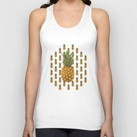 pineapples Tank Tops featuring Pineapples by Brocoli ArtPrint