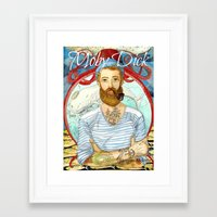 moby dick Framed Art Prints featuring Moby Dick by Rose Draft