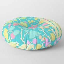 Bright Cherry Blossom Stripe Floor Pillow