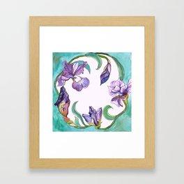 Iris Wreath Framed Art Print
