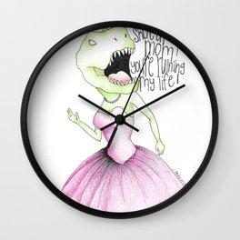 Jurassic Prom Wall Clock