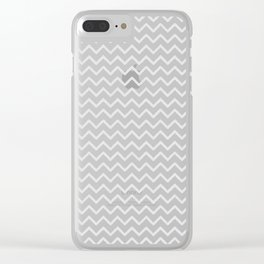 Elegant of white geometrical pastel color chevron Clear iPhone Case