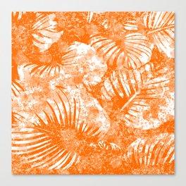 Orange Palm Canvas Print