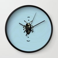 bug Wall Clocks featuring Bug by Bili Kribbs