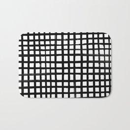 Hand-painted Grid Bath Mat