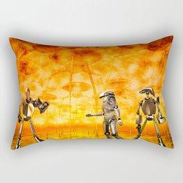 I Think I  Hear Something Rectangular Pillow