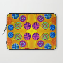 Colorful soft twirls by wool Laptop Sleeve