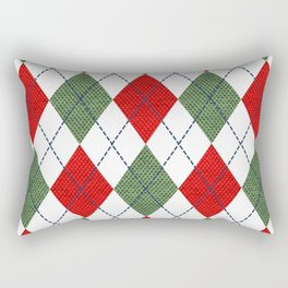 Argyle Christmas Spirit Rectangular Pillow