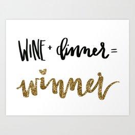 Winner winner Art Print