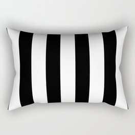 Simply Vertical Stripes in Midnight Black Rectangular Pillow