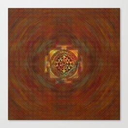 Colorful Sri Yantra  / Sri Chakra Canvas Print