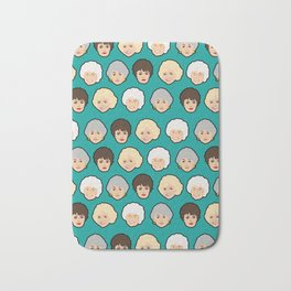 Golden Girls Green Pop Art Bath Mat