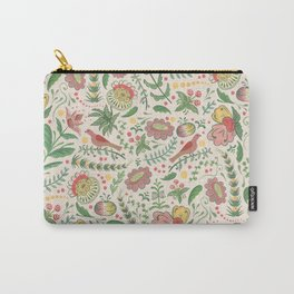 Swedish Floral - Cream Carry-All Pouch
