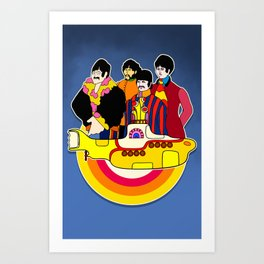 Yellow Submarine - Pop Art Art Print