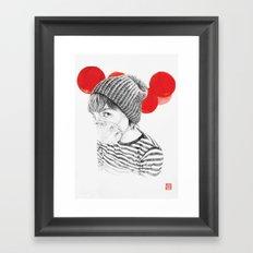 MASK + LANTERNS Framed Art Print
