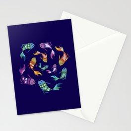 Circle Fish Design Stationery Cards