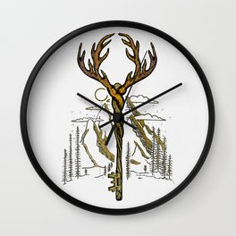 Wilderness Key Wall Clock
