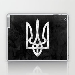 Ukraine Black Grunge Laptop & iPad Skin