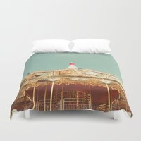 carousel Duvet Covers featuring Carousel Lights by Cassia Beck