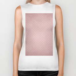 Grunge textured rose quartz small scallop pattern Biker Tank