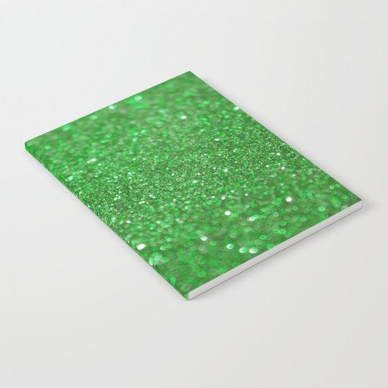 Bright Green Glitter Notebook