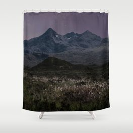 Mountains of Scotland at evening Shower Curtain