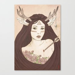 -She from the woods Canvas Print