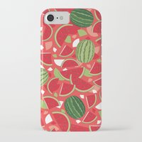 watermelon iPhone & iPod Cases featuring Watermelon by Ornaart